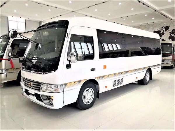 丰田考斯特14座#一汽丰田4.0豪华接待车