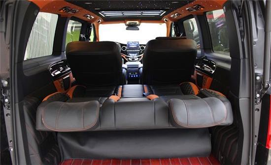 来宾福特E350改装航空座椅 星空顶灯 进口柚木地板
