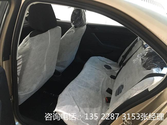 款大众新款捷达后排座椅采用与前排采用同样的材质