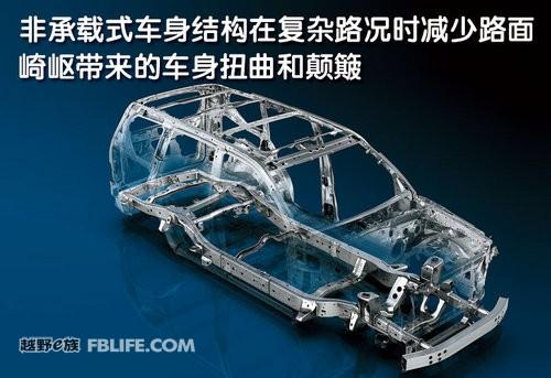 非承载式车身结构能够在行驶过程中降低声噪及