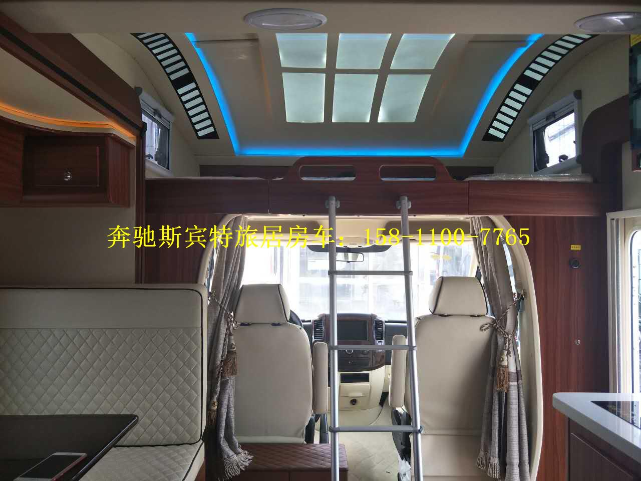 进口奔驰斯宾特324旅居房车报价-蓝牌c照可分